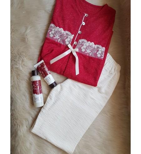 LYS BLANC pyjama dentelle