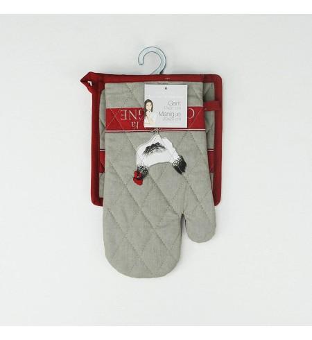Douceur d'intérieur gant + manique